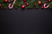 Černý vánoční okraj