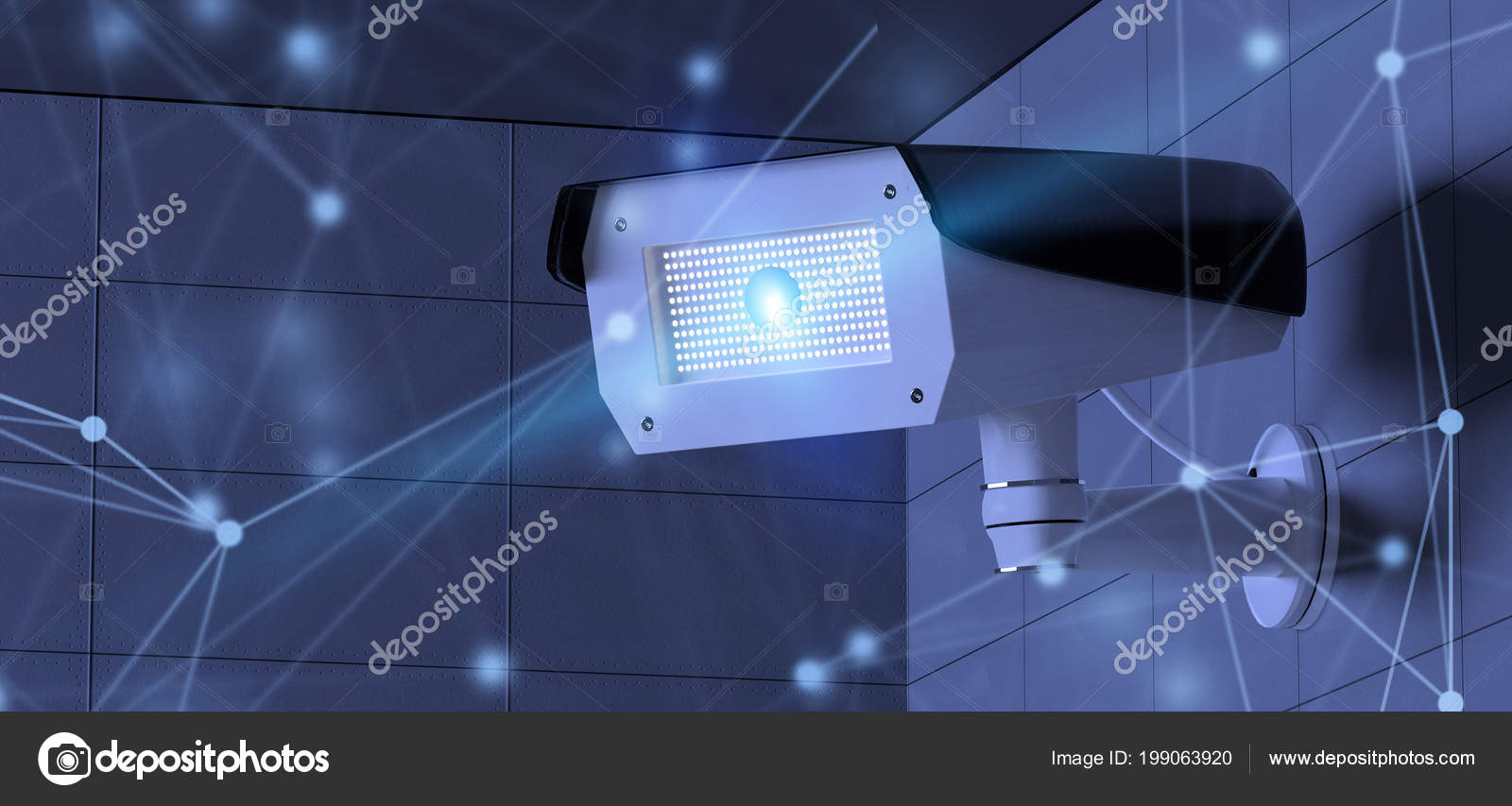 Vista Renderização Com Rede Sistema Câmera Segurança Cctv — Fotografia de  Stock 1b7d52da8e