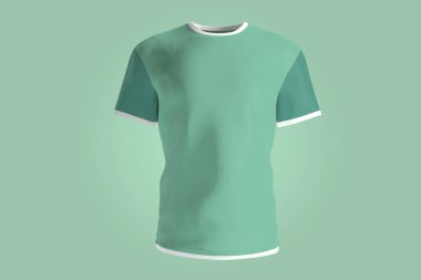 View of a Soccer jersey mock up on a background stock vector