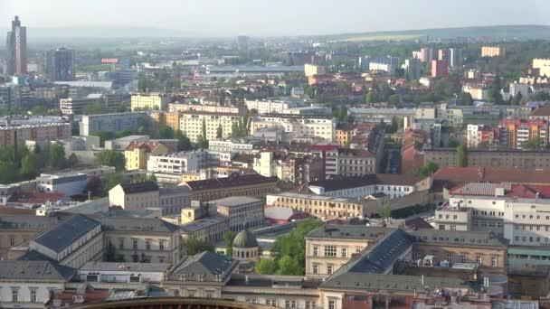 BRNO, CZECH REPUBLIC - APRIL 24, 2018: Morning panorama of modern Brno