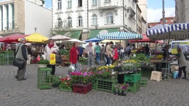 BRNO, CZECH REPUBLIC - APRIL 24, 2018: Spring fair on the Market square of Brno