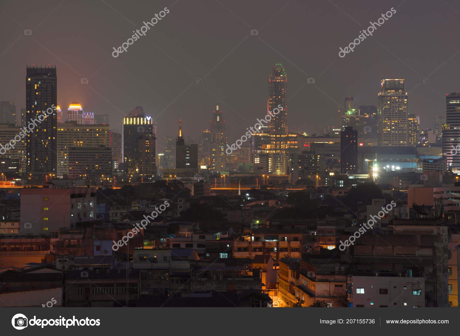 Bangkok Thailand December 2016 Night Panorama Today Bangkok – Stock  Editorial Photo © sikaraha #207155736