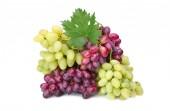 friss rózsaszín és zöld szőlő-fehér levél