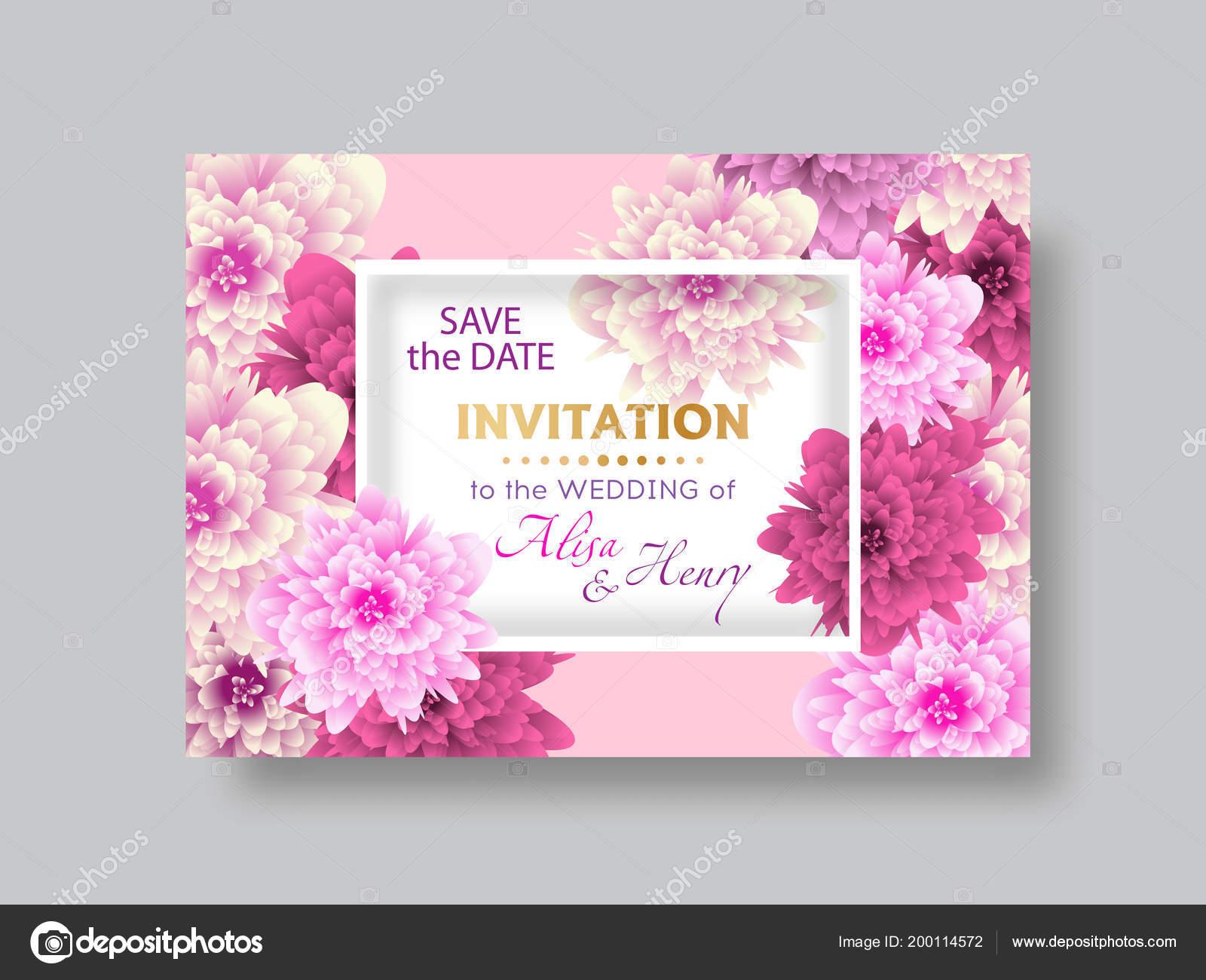 Wedding Invitation Template Elegant Background Beautiful