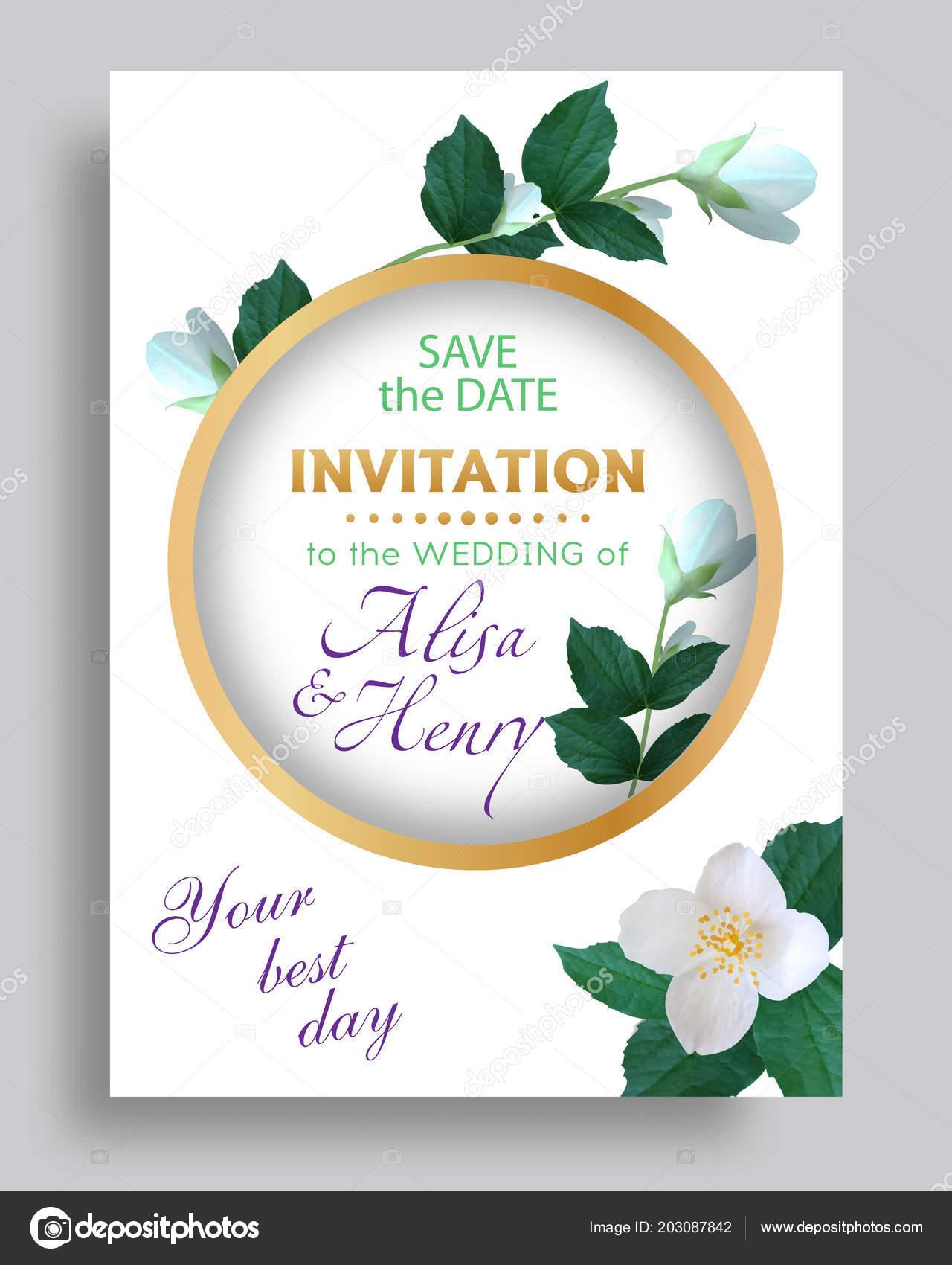 Jasmine Invitation Template