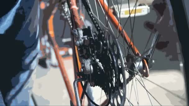 Making adjustments to the chain tension on a bicycle