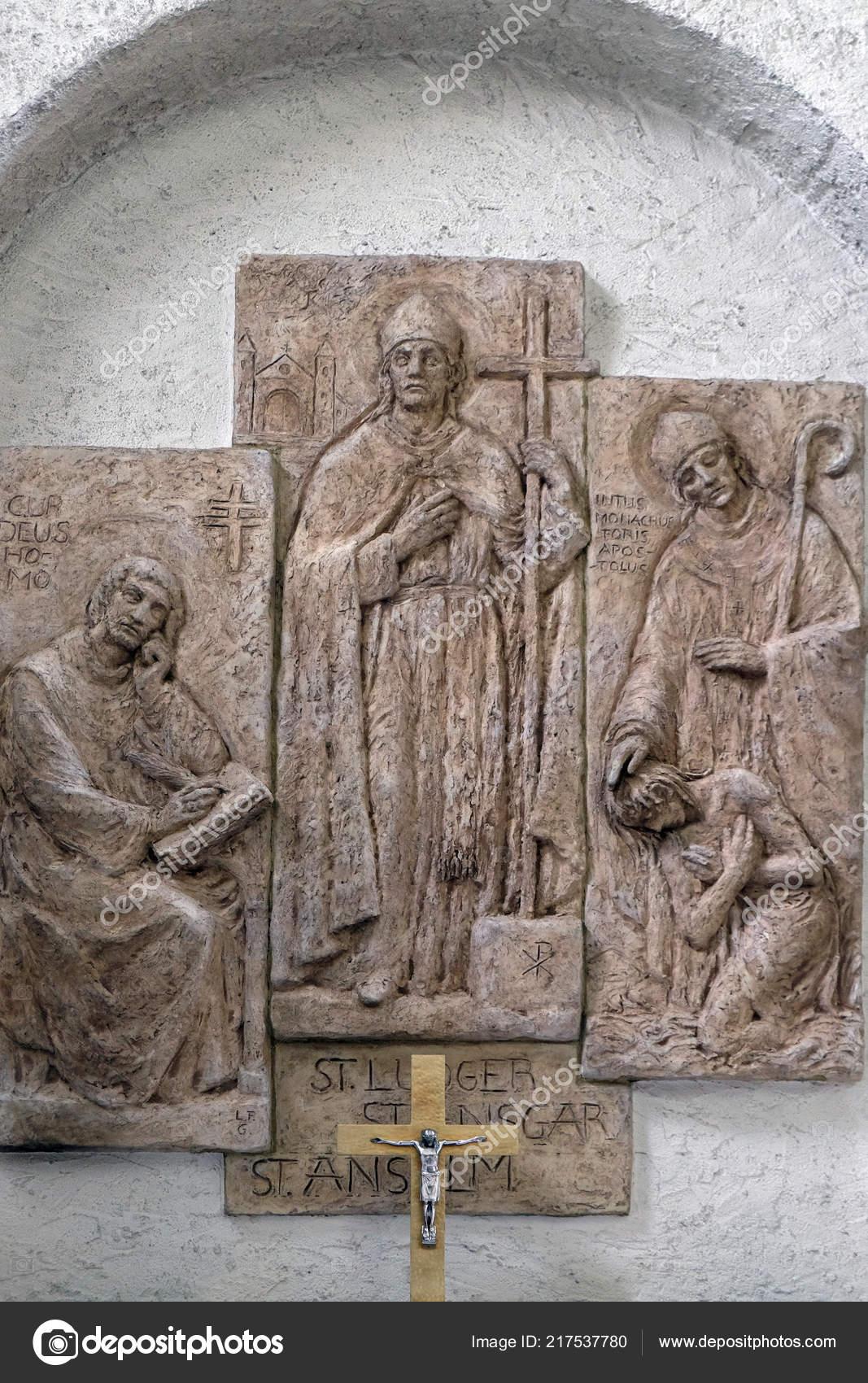 Saints Anselm Canterbury Bishops Liudger Ansgar Missionary