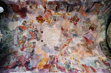 Fresco on the ceiling of the Our Lady church in Aschaffenburg, Germany