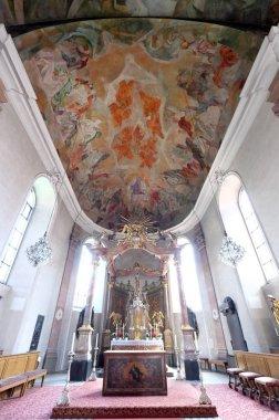 Main altar in Our Lady church in Aschaffenburg, Germany