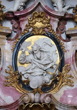 God the Father, Virgin Mary altar in the Basilica of St. Martin and Oswald in Weingarten, Germany