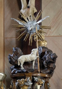 Lamb of God, Saint John the Baptist church in Zagreb, Croatia