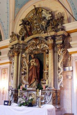 Sacred Heart of Jesus, altar in the Church of Saint Barbara in Rude, Croatia