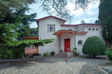 House-museum - white cottage of Chekhov in town Yalta, Crimea.