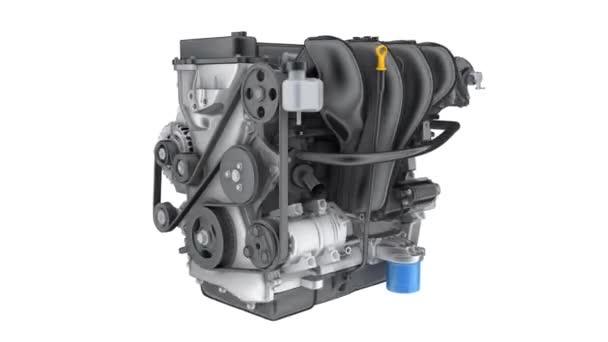 Engine car semitransparent. seamless loop. 3d render