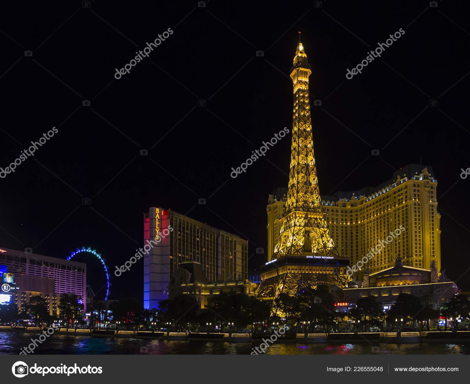 Las Vegas Usa September 2018 Downtown Las Vegas Strip Night
