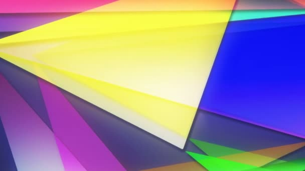 Abstract animated background with colored moving geometric figures imitating origami 3d rendering