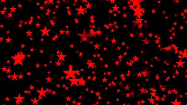 Abstraktnyj Fon Zastavki Ekrana Animirovannye Kompyutera S Dvizhushejsya Krasnoj Zvezdy Na Chernom Fone 3d