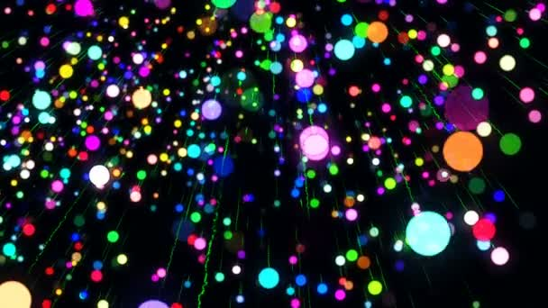 Abstract Animated Computer Screen Saver Moving Colored Circles Light Effect  — Stock Video - Abstract Animated Computer Screen Saver Moving Colored Circles Light