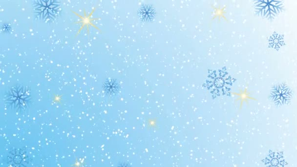 animated new year beautiful screensaver snowflakes blue tones rendering stock video