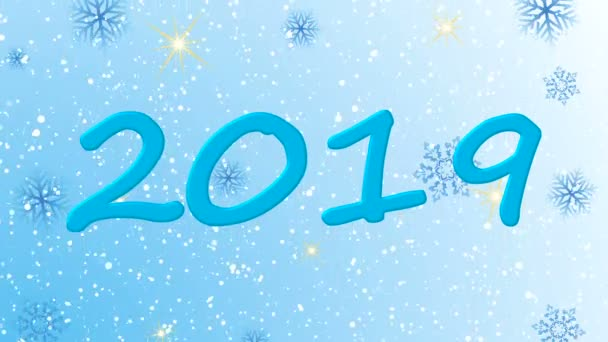 animated new year beautiful screensaver snowflakes blue tones