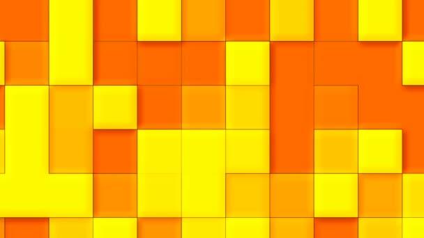 rot und gelb abstrakter animierter Hintergrund mit editierbaren Rechtecken mit einer Farbverlauf-Farbe mit dem Effekt von Schatten und Volumen