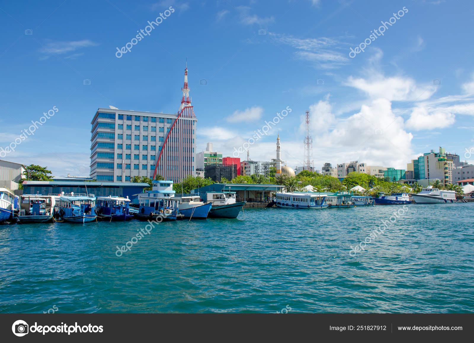 City Male Island Maldives View Ocean Stock Photo C Natabn
