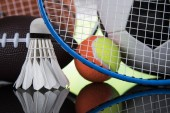 Fényképek Sport felszerelések, foci, tenisz, kosárlabda