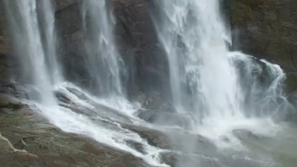 Amazing slow motion of splashing waterfalls