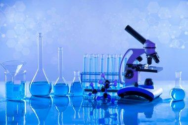 Glassware, Laboratory beakers,Science experiment stock vector
