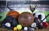 Sport felszerelés és golyó háttér