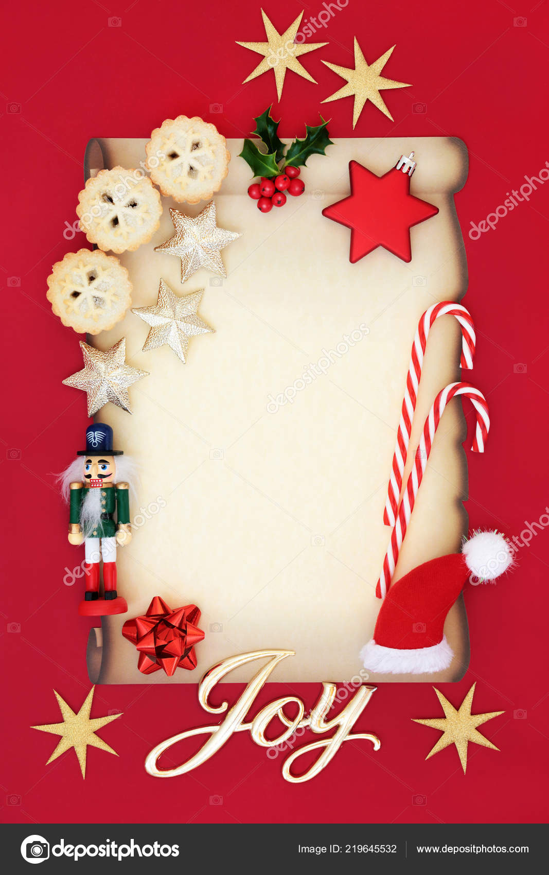 blank letter father christmas party invitation joy sign