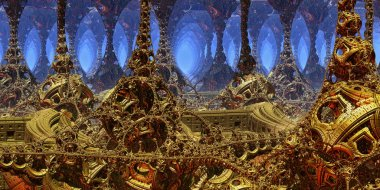 Fantastic background 3d abstract structures, fictional background.