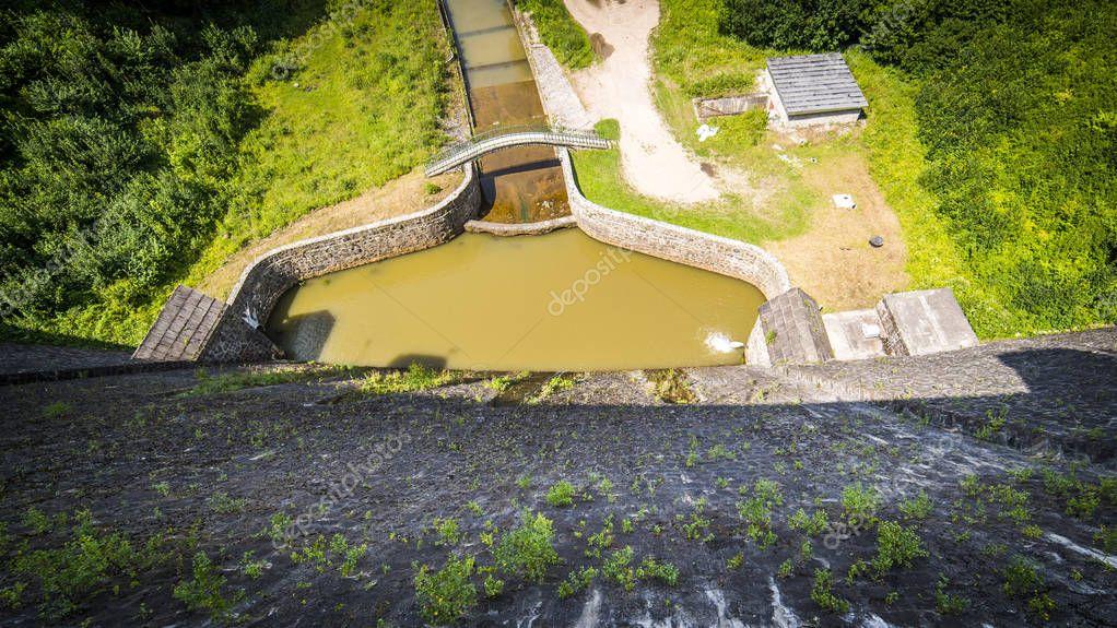Фотообои Water dam in Zagorze Slaskie