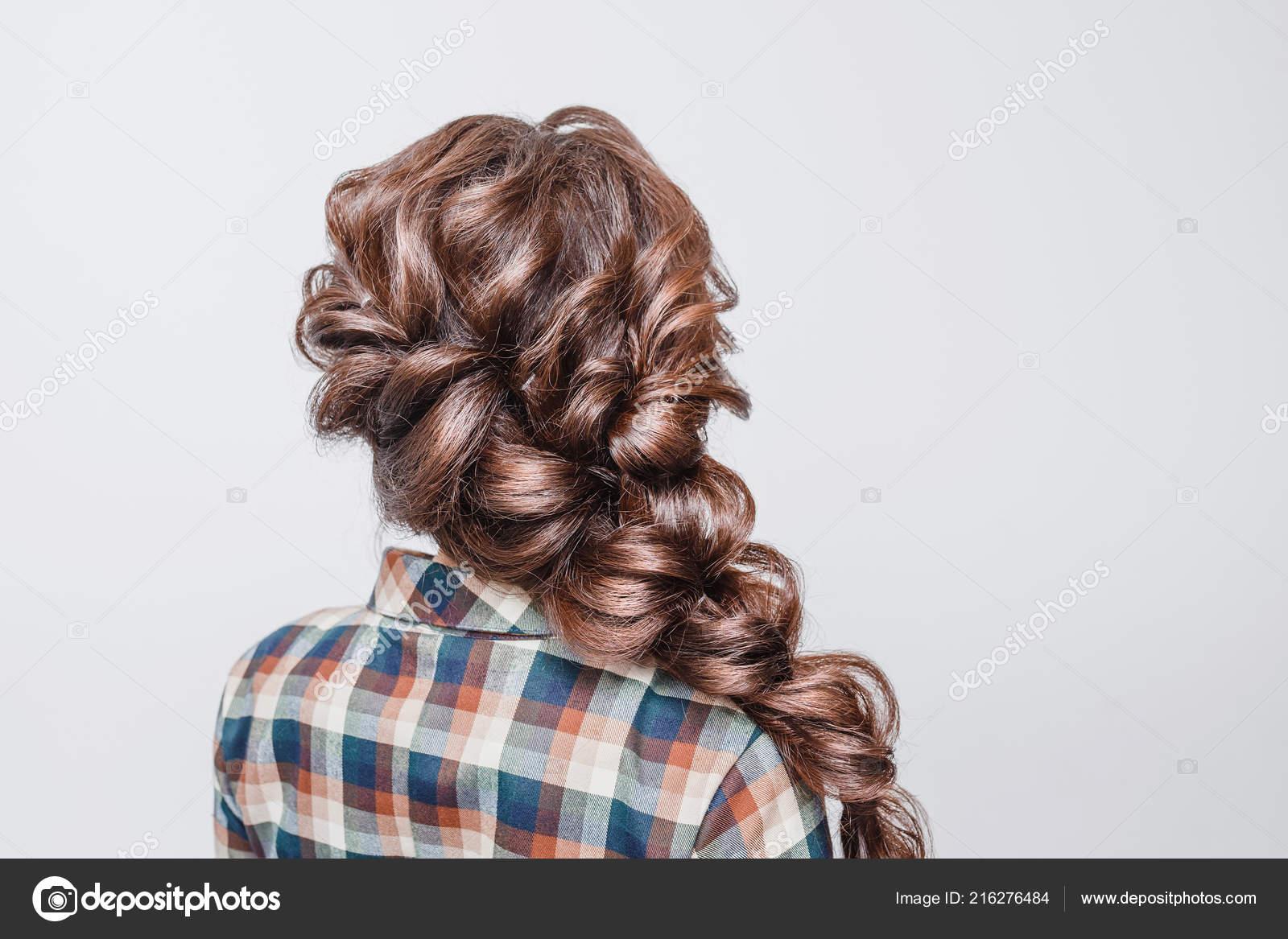 Sensational Beautiful Woman Tail Hair Style Hairdress Stock Photo Schematic Wiring Diagrams Amerangerunnerswayorg