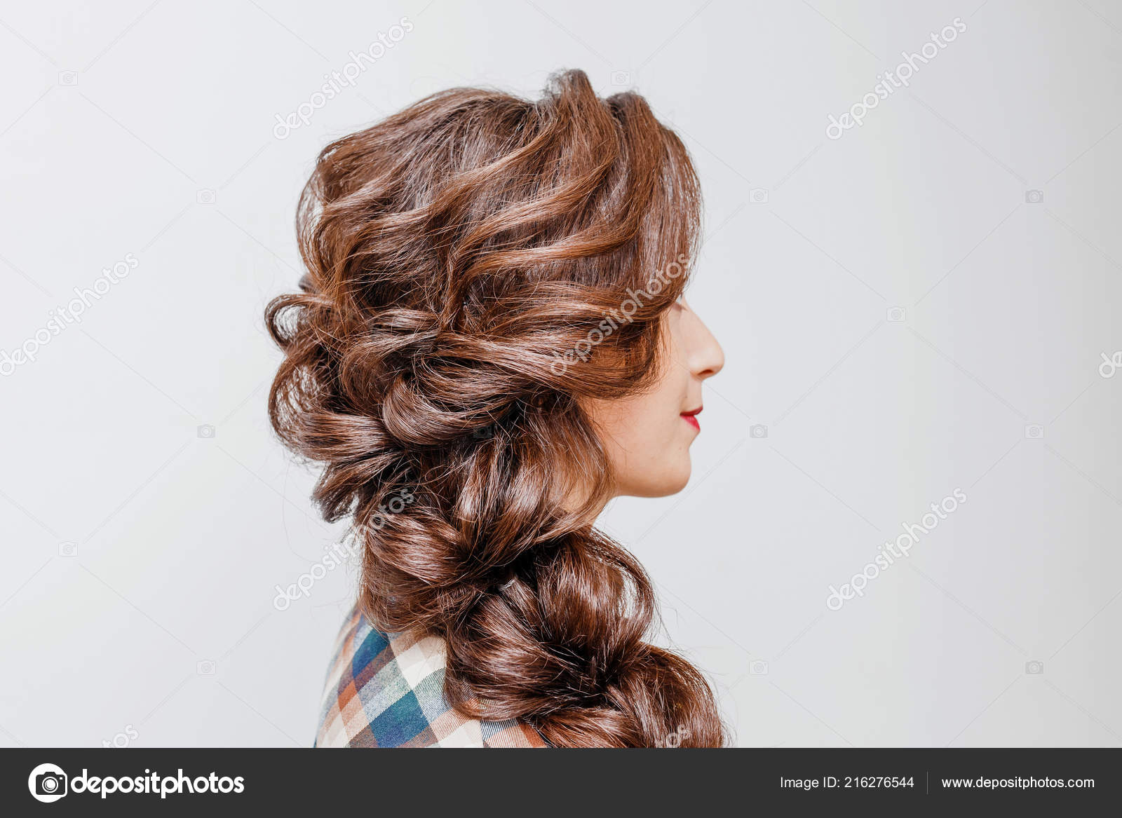 Brilliant Beautiful Woman Tail Hair Style Hairdress Stock Photo Schematic Wiring Diagrams Amerangerunnerswayorg