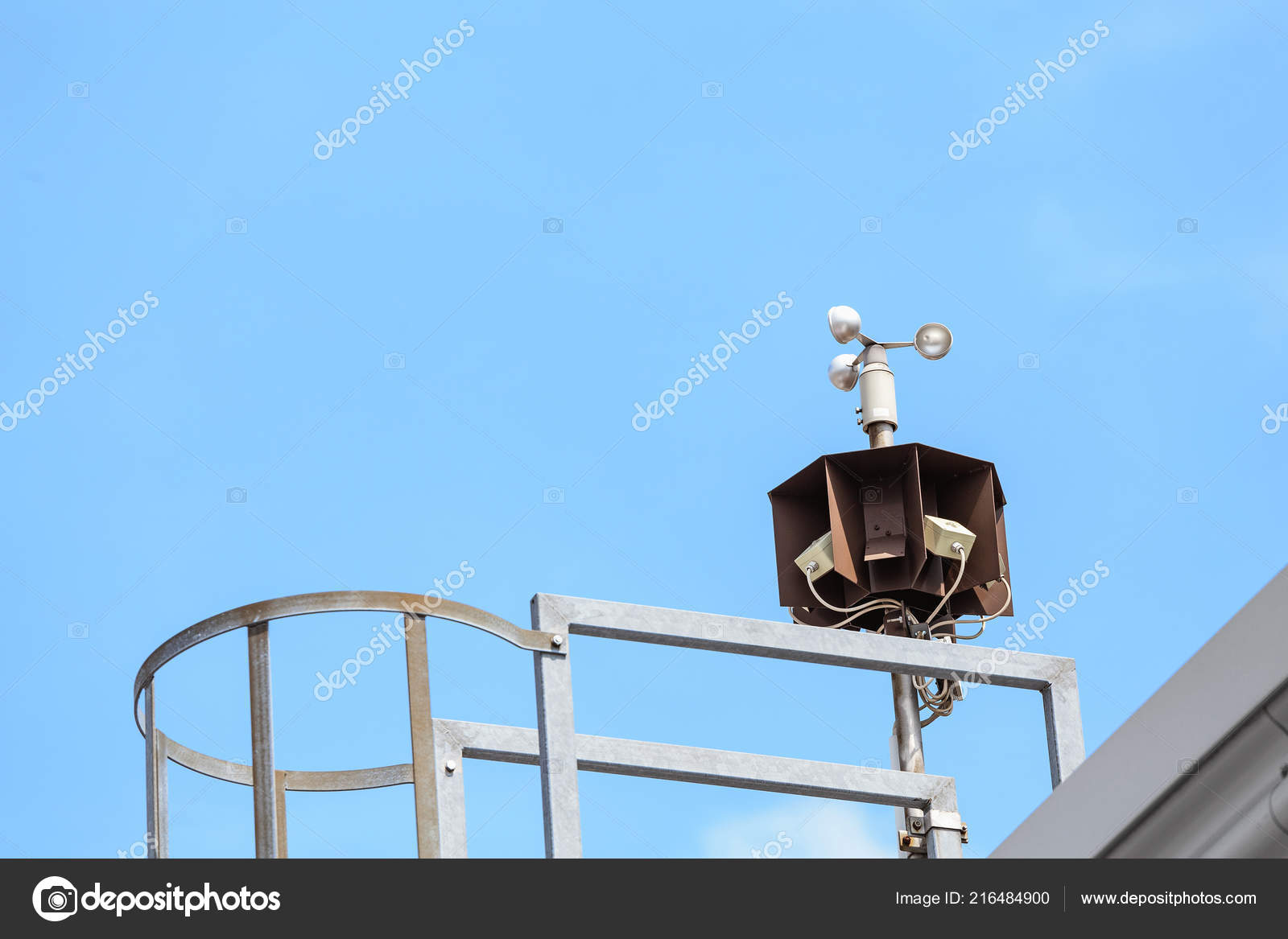 Weather Station Wind Speed Measure System — Stock Photo