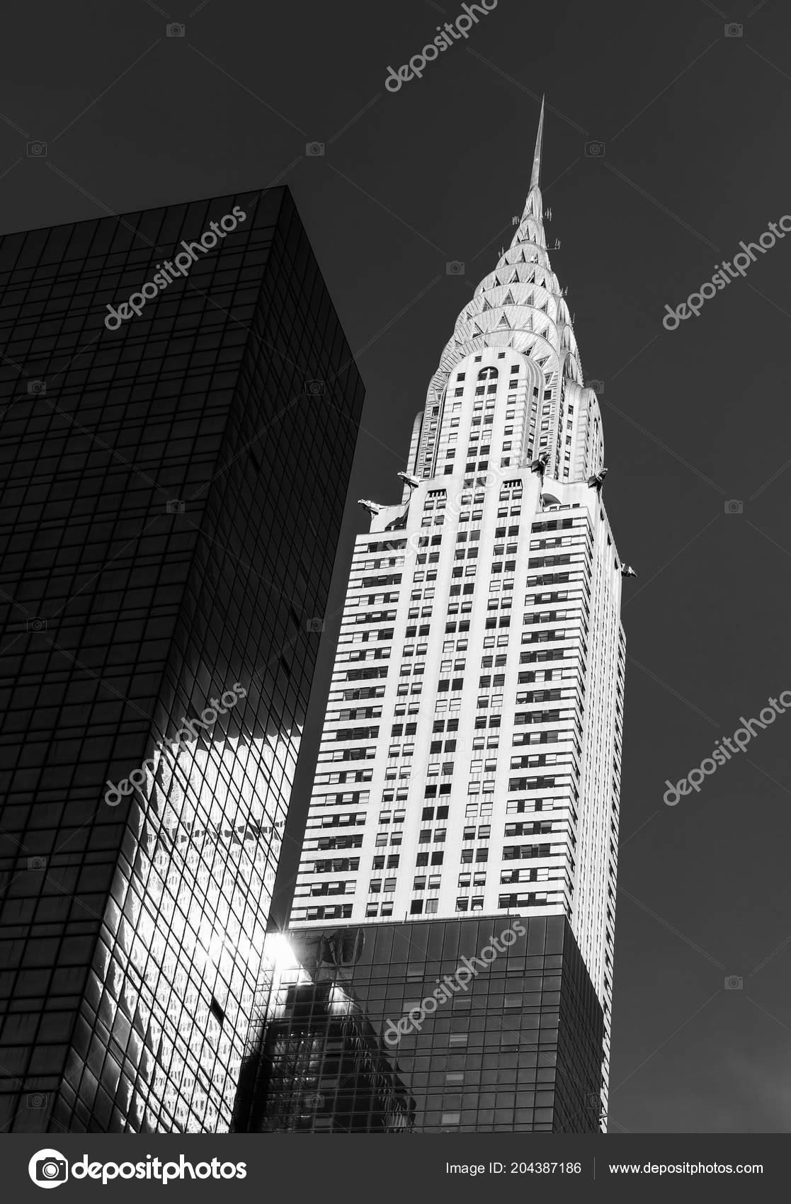 New York Usa Jun 2014 Black White Image Chrysler Building Stock Photo