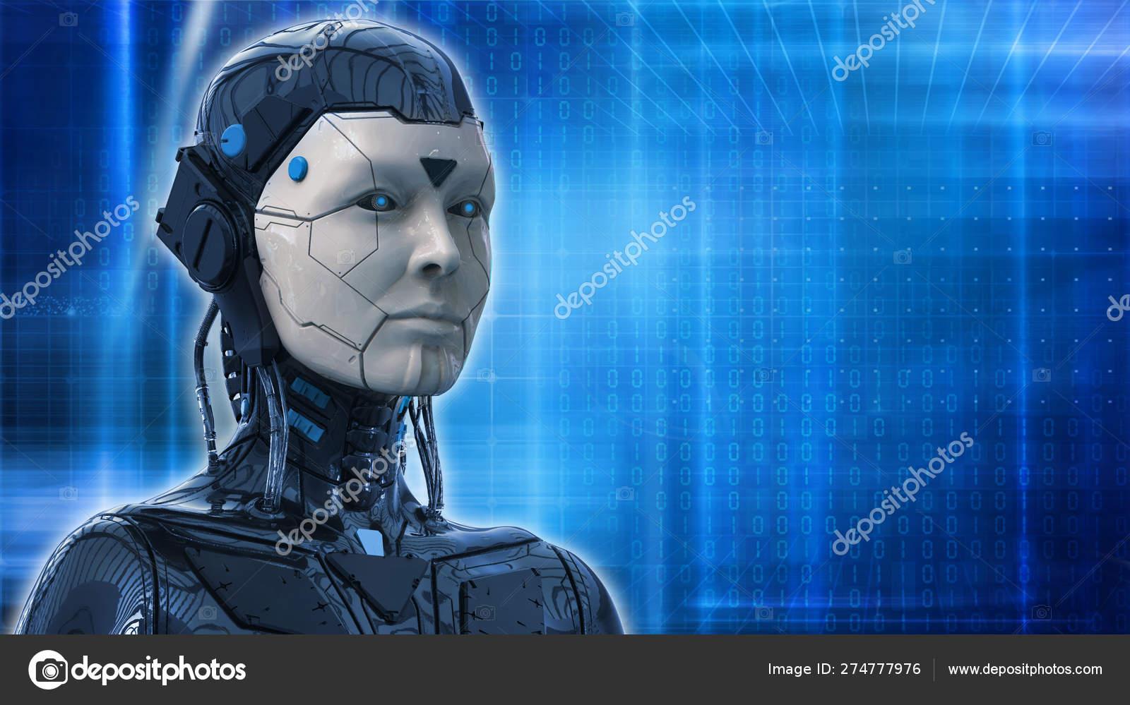 ロボットsf女性技術背景 3dレンダリング壁紙 ストック写真 C Abidal