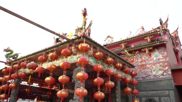 chinese lantern in a temple