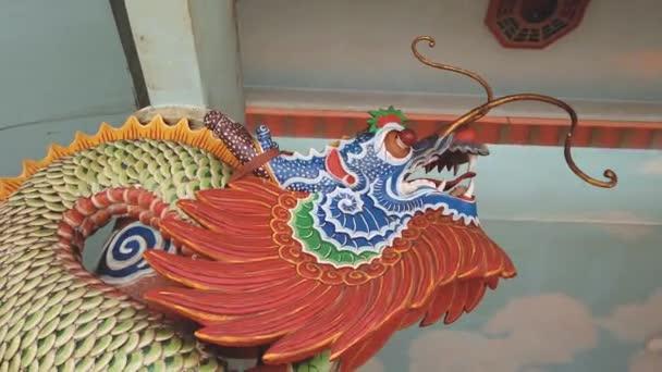 közeli felvételeket a kínai sárkány szobor