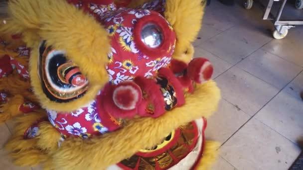 Detailní záběry z čínského draka kostým pro festival