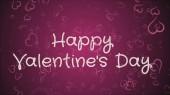 glücklicher Valentinstag, eine Grußkarte, rosa Herzen