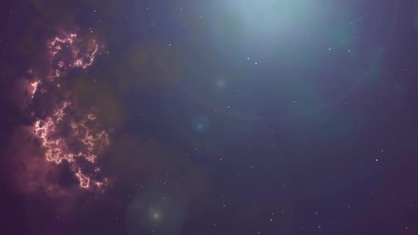 Animáció az izzó köd és a csillagok
