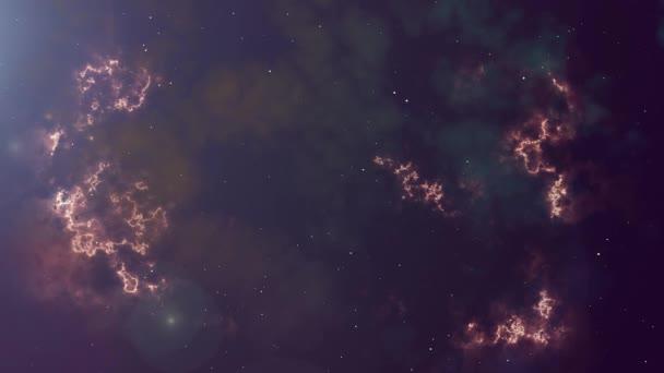 Animace zářící mlhoviny a hvězd