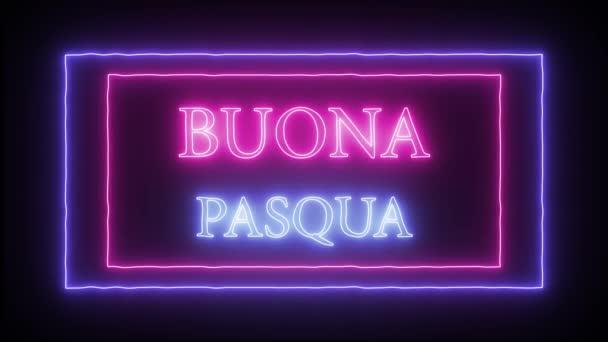 Animation Leuchtreklame buona pasqua, frohe Ostern auf italienisch