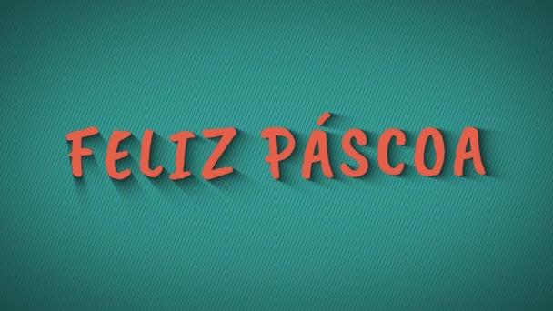 animierte hüpfende Buchstaben feliz pascoa