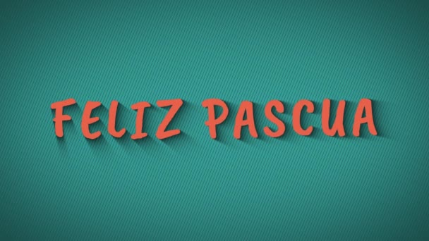 animierte hüpfende Buchstaben feliz pascua