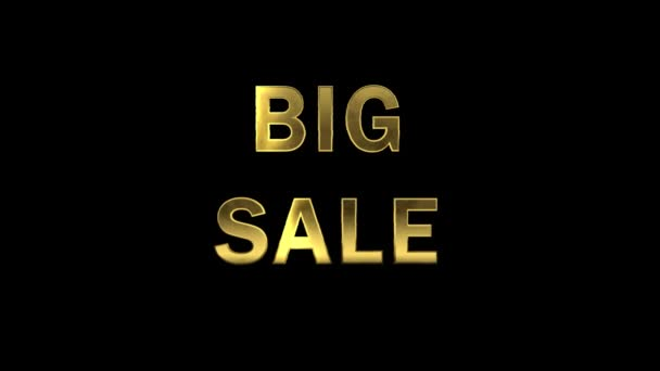 Particles collecting in the golden letters - Big Sale