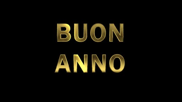 Particles collecting in the golden letters - Buon Anno