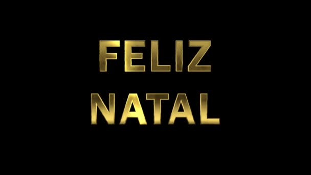 Particles collecting in the golden letters - Feliz Natal